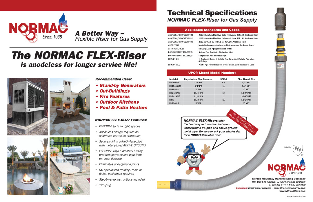 flexible gas line installation instructions